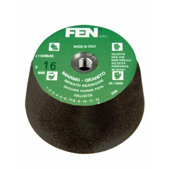 110/90x55xM14 1C 36 Bakelit MTC FEN Menetes kúpos fazék alakú bakelit köszörűkorong FEN 34030030