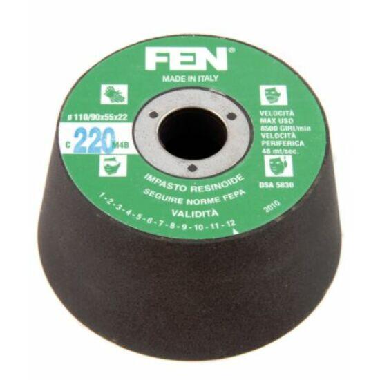 110/90x55x22 1C 24 Bakelit FEN Furatos kúpos fazék alakú bakelit köszörűkorong FEN 34030032