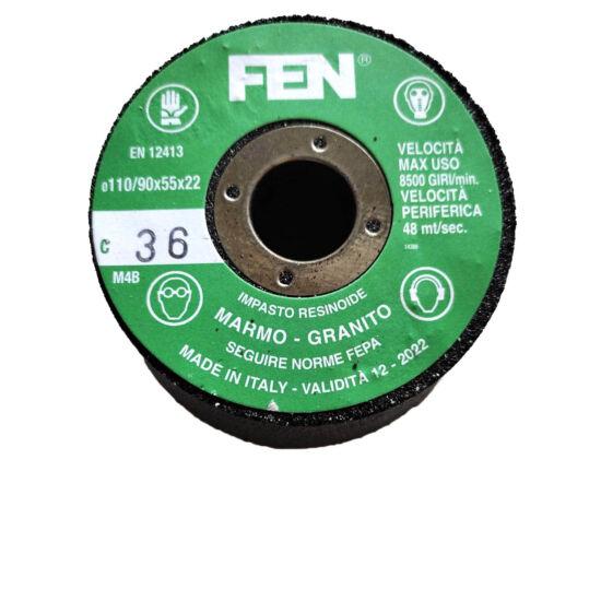 110/90x55x22 1C 36 Bakelit FEN Furatos kúpos fazék alakú bakelit köszörűkorong FEN 34030035