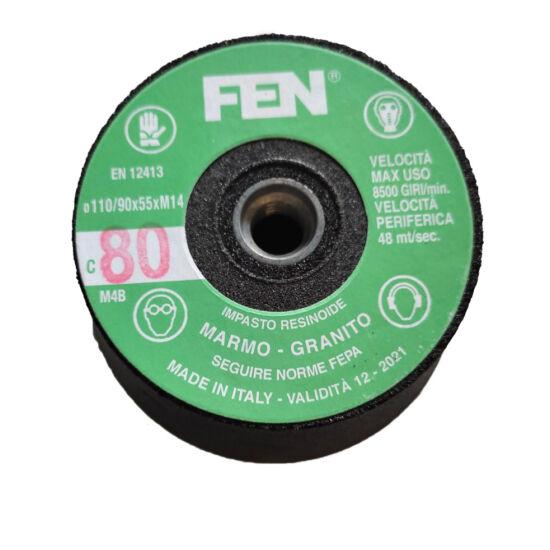 110/90x55xM14 1C 80 BakelitFEN Menetes kúpos fazék alakú bakelit köszörűkorong FEN 34030038