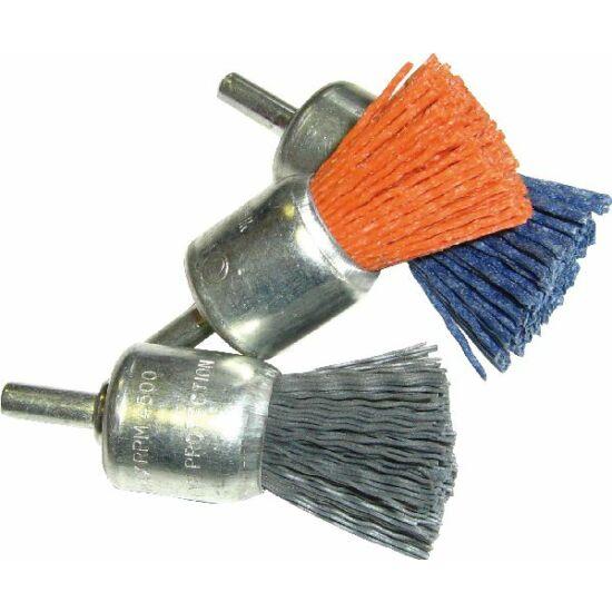 Nylon ecsetk.  SNM D25 P 80 FG Műanyag huzalú ecsetkefe Fast Grinder 45070025