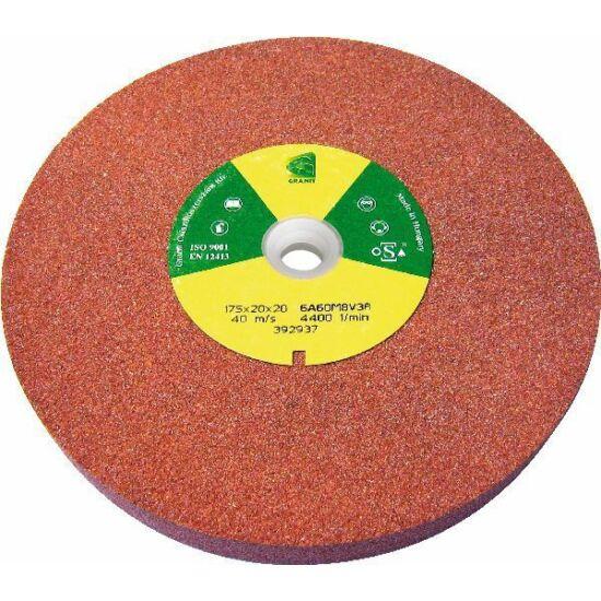 175x20x32b 6A60M8V38 Grá  4510 Granit 6A piros sima köszörûkorong D<=200mm Granit 1201A820