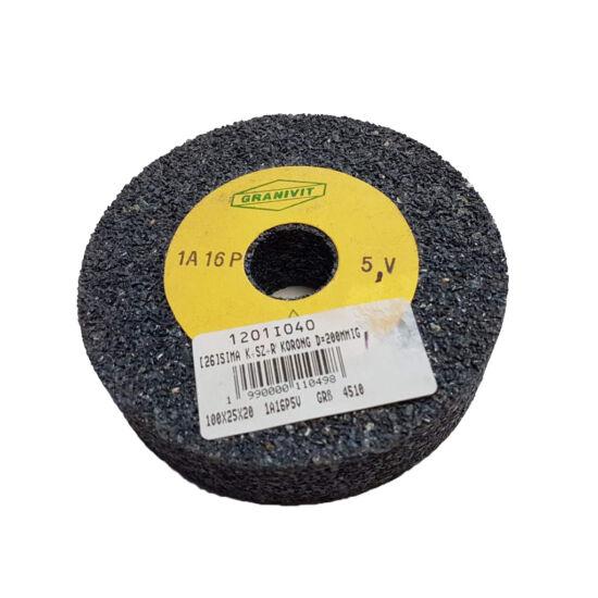 100x25x20  1A16P5V   Grá  4510 Granit 1A szürke sima köszörûkorong D<=200mm Granit (Akciós) 1201I040