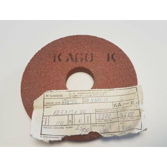 125x13x32 6A60K8V38 Grá 4511/1 Gránit lapos tányér alakú köszörûkorong Granit 12030030