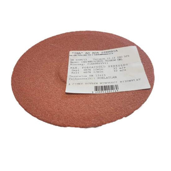150x16x20 6A60K5V38 Iba 4511/2 Homorú tányér alakú köszörûkorong Iba 32050047